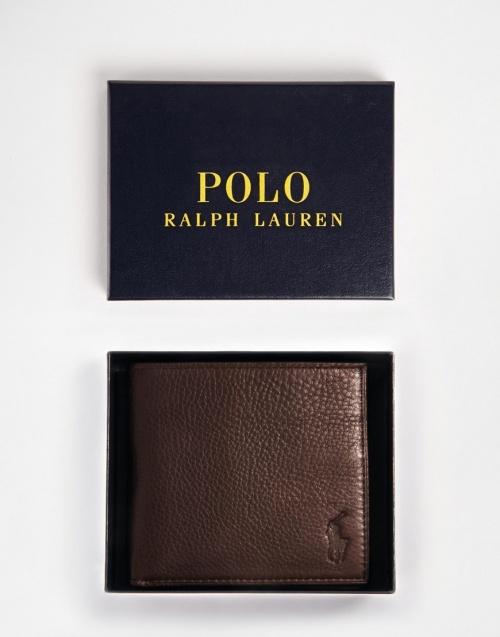 Polo Ralph Lauren - portefeuille en cuir marron