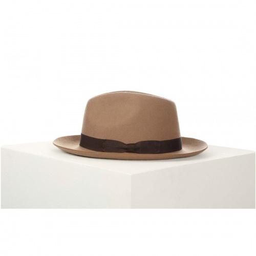Don Paris - chapeau feutre bande beige