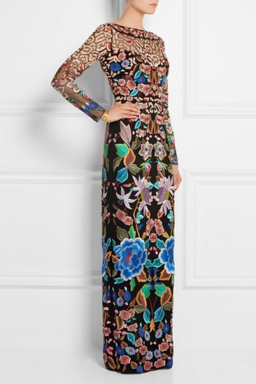 Temperley London - Robe longue brodé motifs