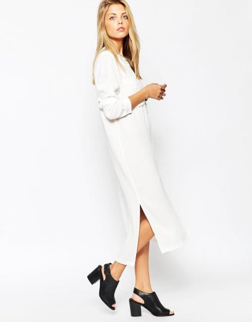 robe longue blanche asos