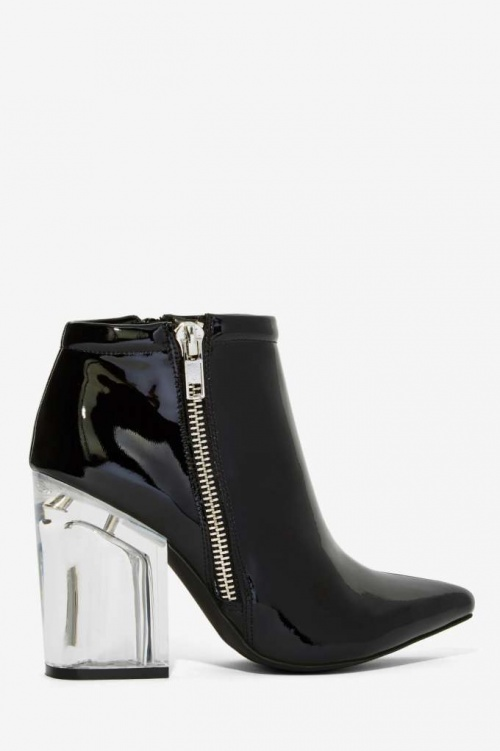 Jeffrey Campbell - Bottines talons transparents vinyle
