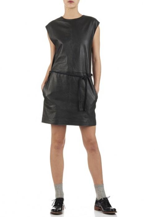 Athe Vanessa Bruno - Robe noire cuir
