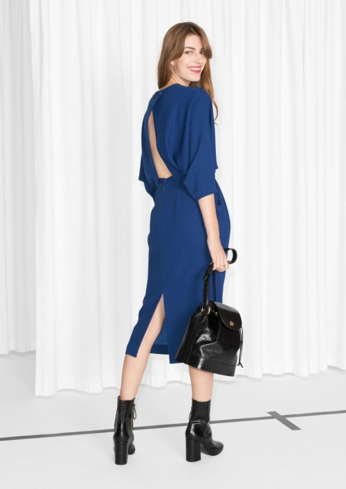 & Other Stories - Robe bleu dos nu
