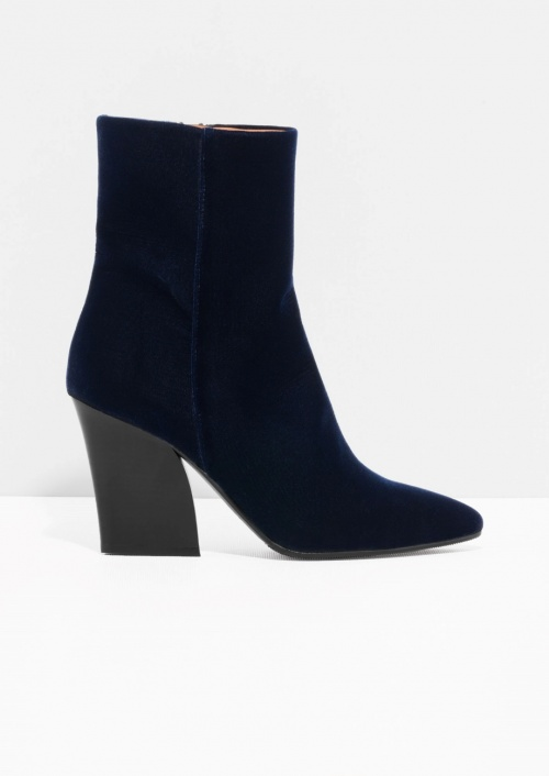 & Other Stories - bottines bleu velours