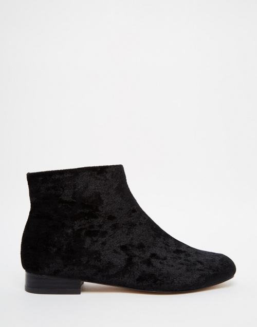 Asos - bottines velours noir