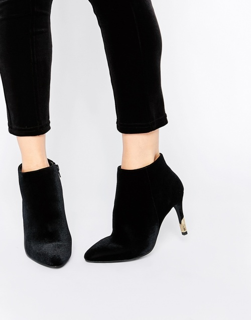 New Look - bottines noire talon doré