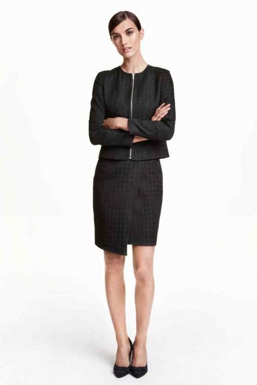H&M - jupe portefeuille texturée