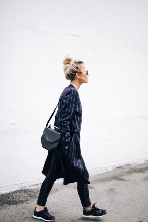 look happily grey veste longue