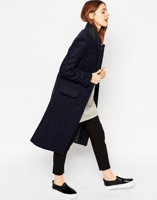 veste longue asos rayée