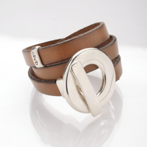 Oliv.b - bracelet cuir anneau