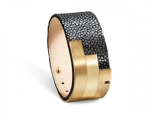 Ursul - bracelet cuir et or