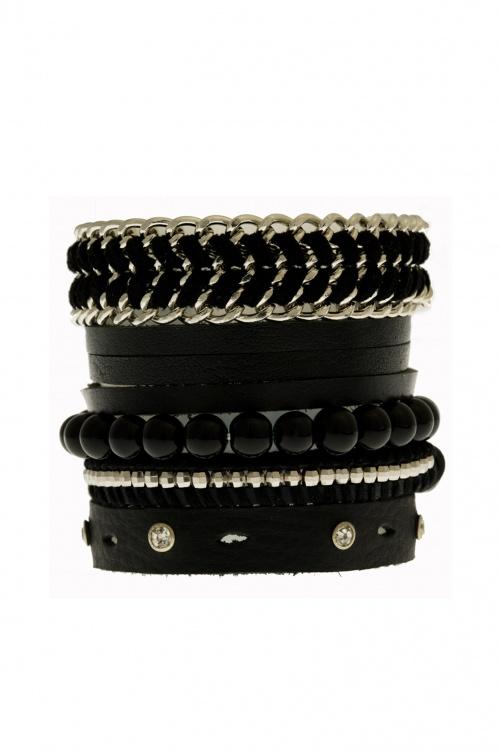 MonShowroom - bracelet cuir manchette