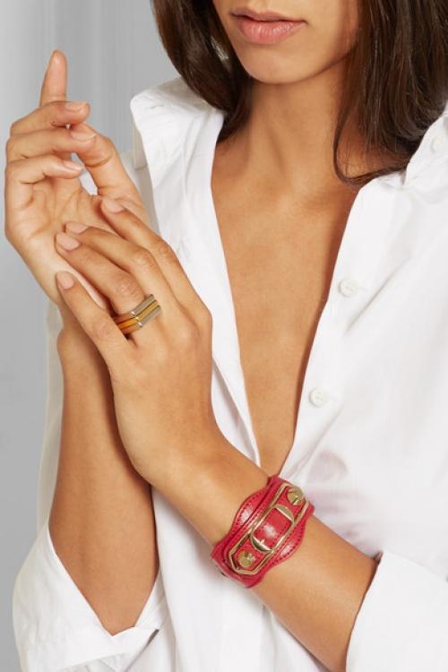 Balenciaga - bracelet cuir manchette