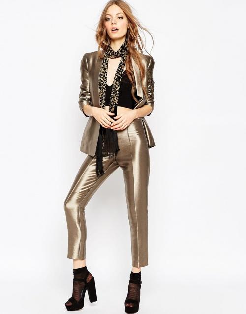 Asos - pantalon metallisé