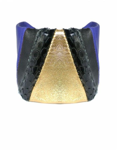 Anya - bracelet cuir manchette jonc