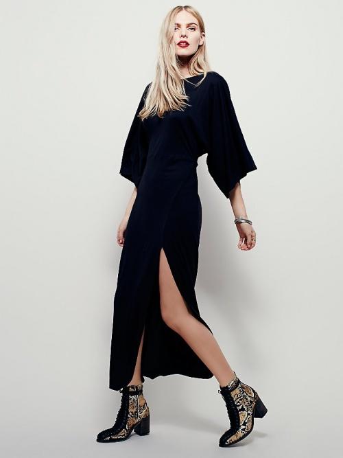 Free People - robe longue fendue