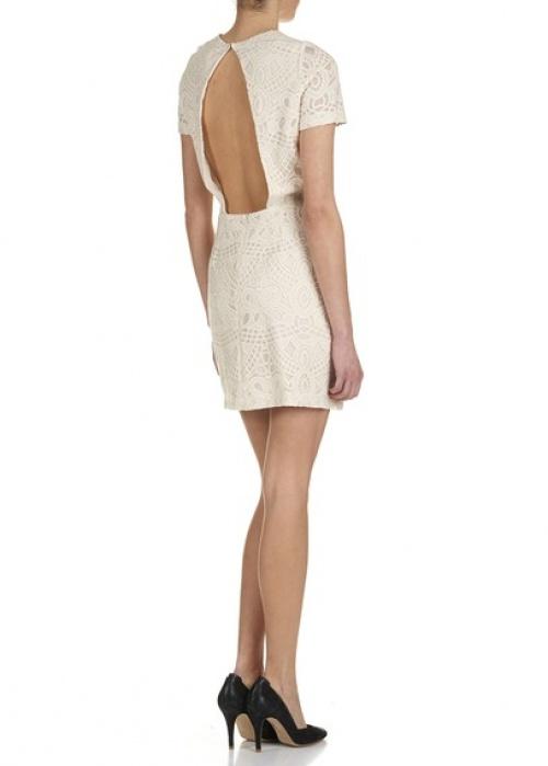 Sessun - Robe blanche dos nu