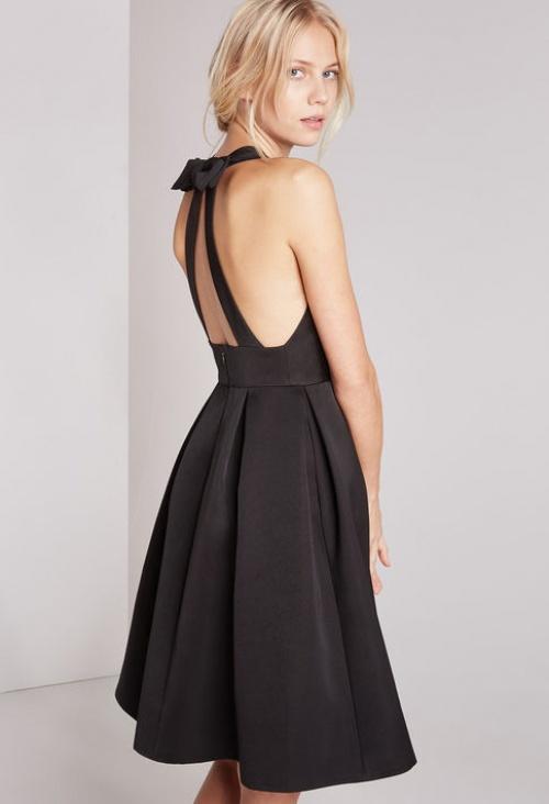 Claudie Pierlot - Robe noire dos nu noeud