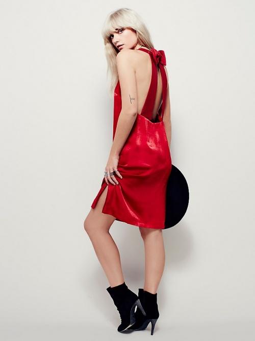 Free People - Robe dos nu noeud rouge