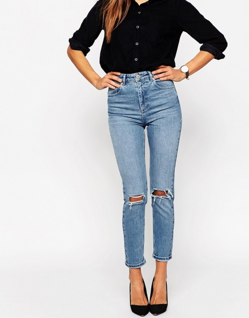 jeans asos taille haute