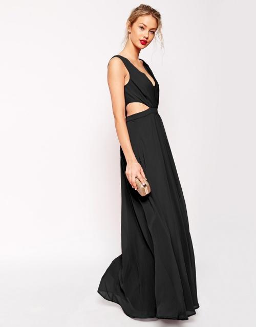 Asos - robe soirée longue noire