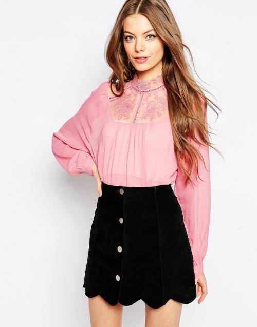 Asos - blouse dentelle ajourée
