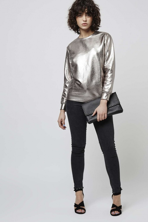 Topshop  sweat metallisé