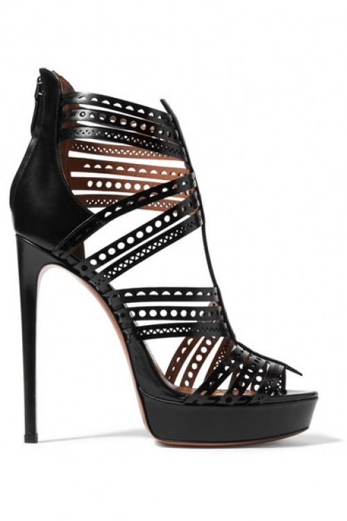 Alaïa - sandales ajourées découpes luxe noires