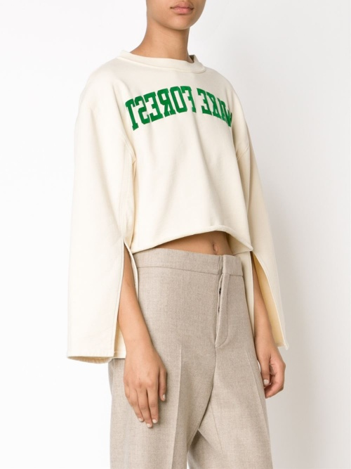 Off-white sweat cropped top imprimé inversé
