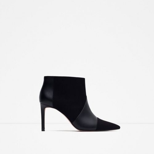Zara - boots noires talons mi hauts