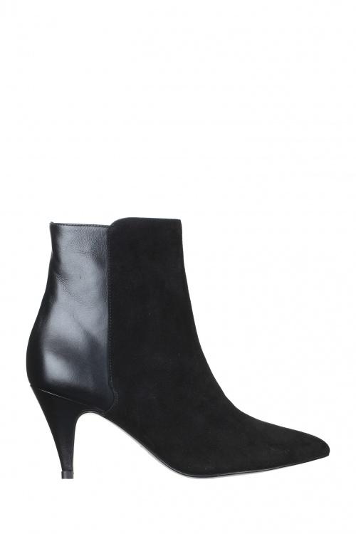 Iro - boots bi-matières noires