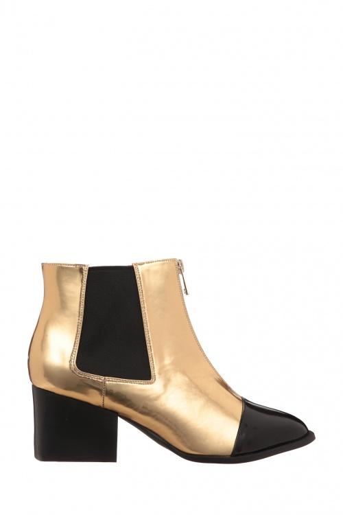 Chocolate Schubar - boots dorées