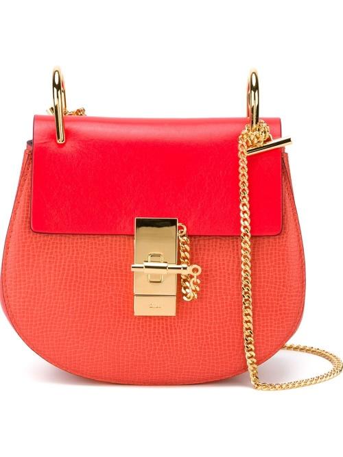 sac chloé drew rouge