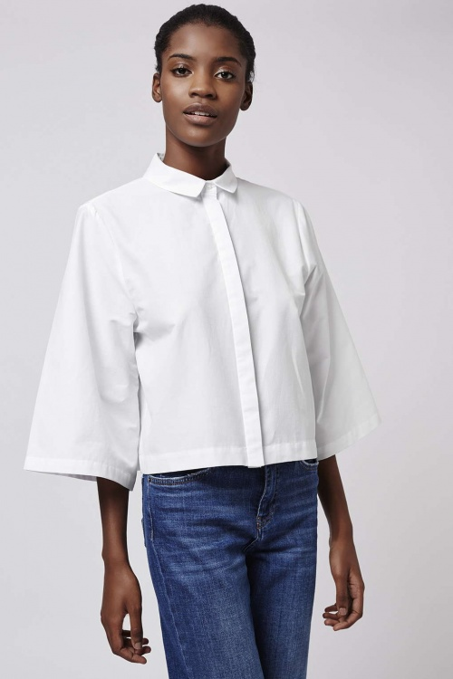 Topshop chemisier cropped top