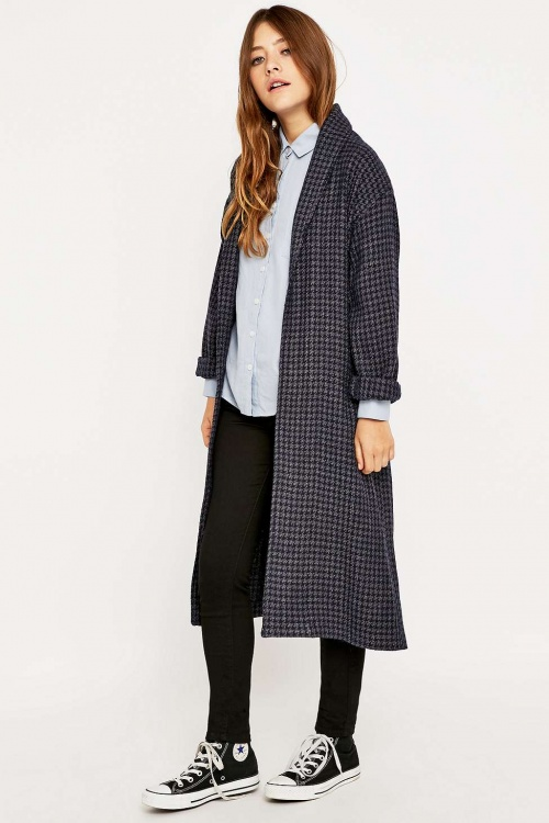 Urban Outfitters - Manteau  peignoir pied de poule