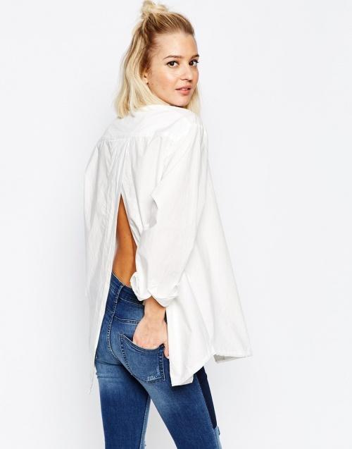 Cheap Monday  chemise fendue dos