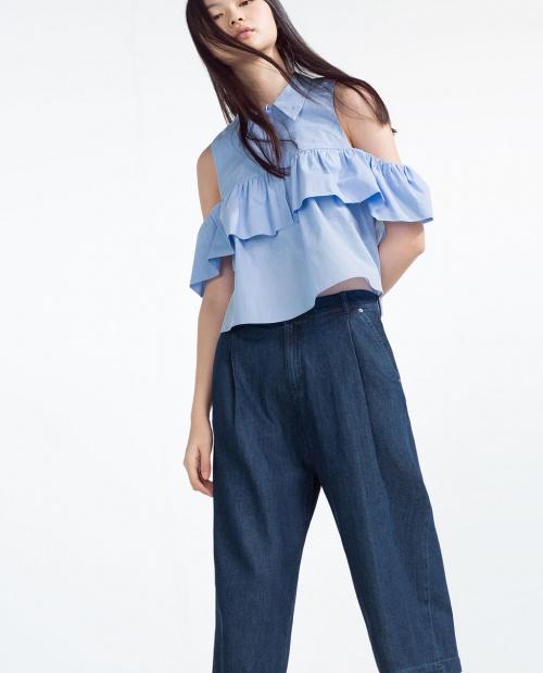 Zara chemise épaules dénudées