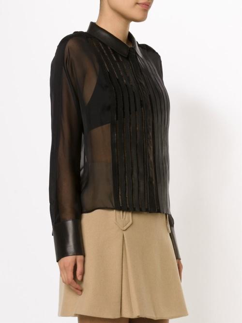 Jitrois chemise noire transparente