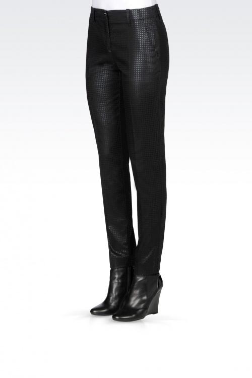Armani - Jean pied de poule noir