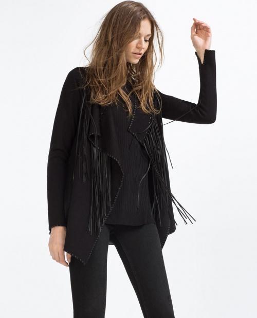 Zara - Veste à franges