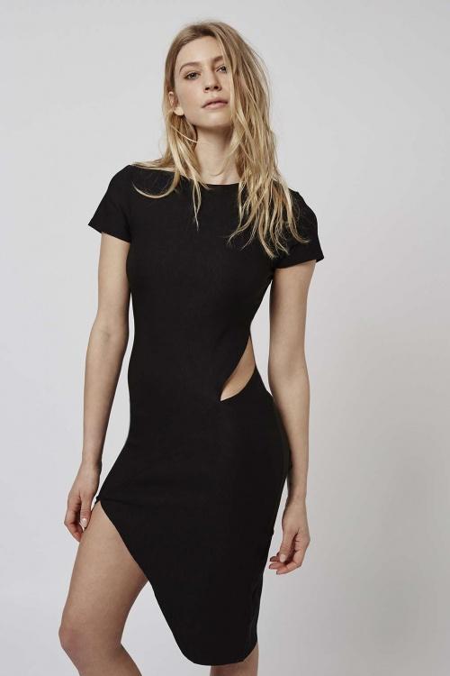 Topshop  robe noire ajourée