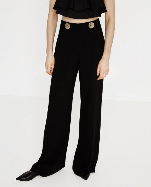 Zara - Pantalon  doublo boutons large