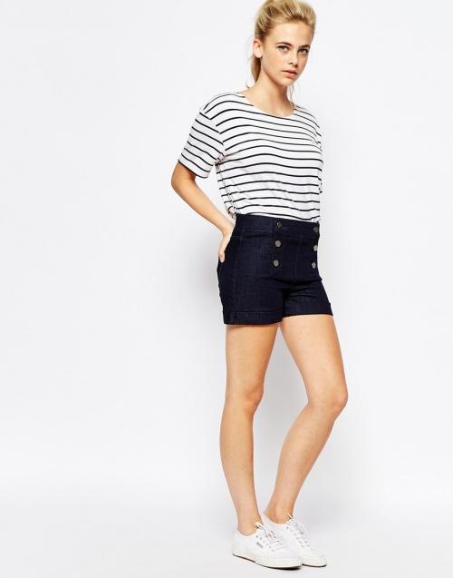 Oasis - Short jeans fermeture à pont