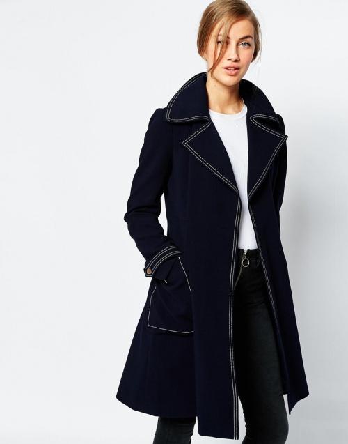 Asos manteau trench surpiqué