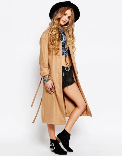 Reclaimed Vintage trench long