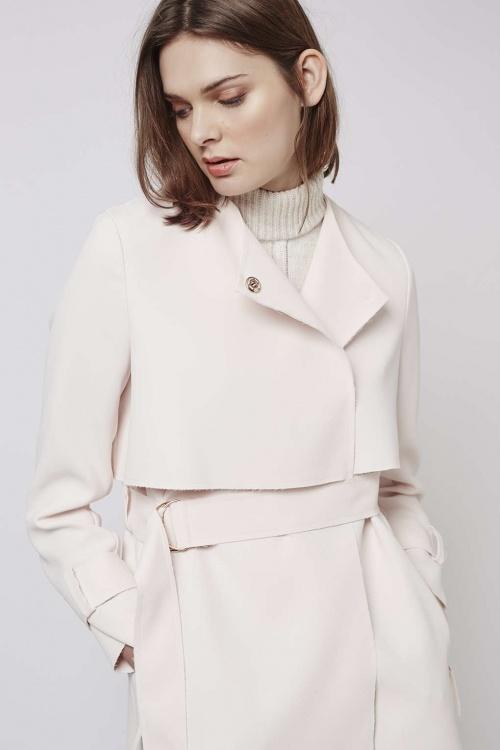 Topshop  manteau trench blanc