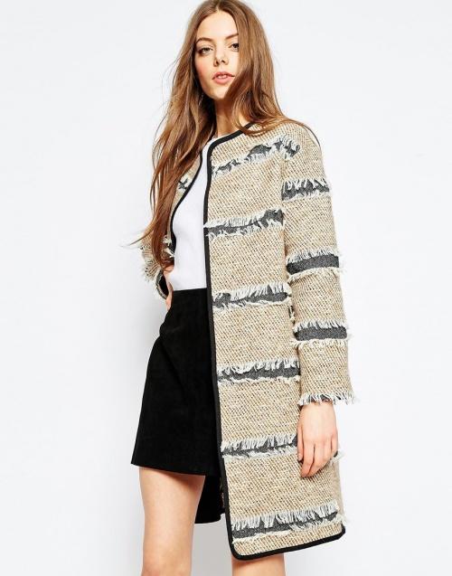 Asos manteau avec franges