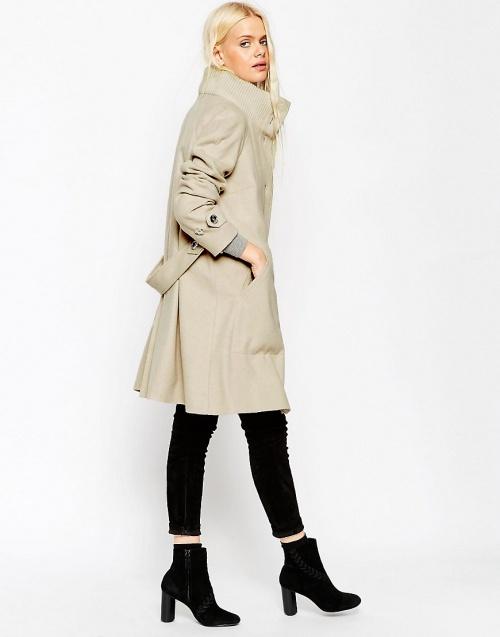 Asos manteau long beige