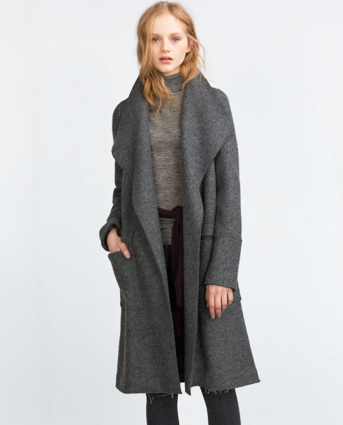 Zara manteau gris long