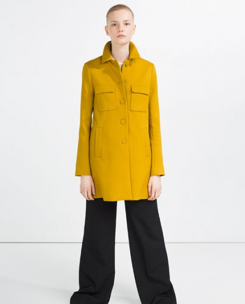Zara manteau jaune